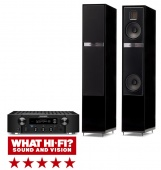 Martin Logan Motion 20i (gloss black)+Marantz PM7000N (black)