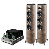 Sonus Faber Sonetto III (wood) +  McIntosh MA252 (black)
