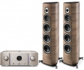Sonus Faber Sonetto VIII (wood) +  Marantz PM-10 (gold)
